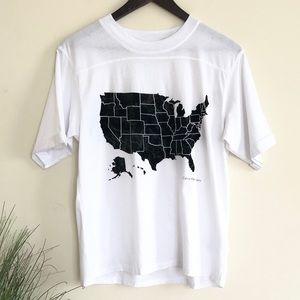 CALVIN KLEIN | White Black US Map Graphic T-shirt